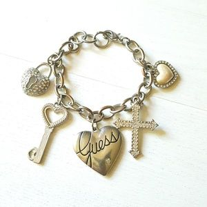 Guess Key To My Heart Charm Bracelet